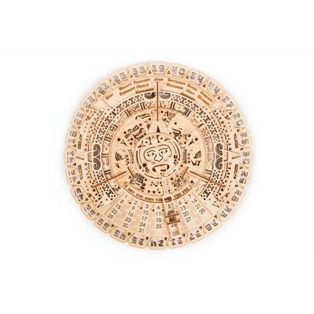Wood Trick Mayan Calendar Wooden Mechanical Model - 3D Wooden Puzzle, Brain Games, Brain Teasers for Adults and - Brain Teaser Games For Adults