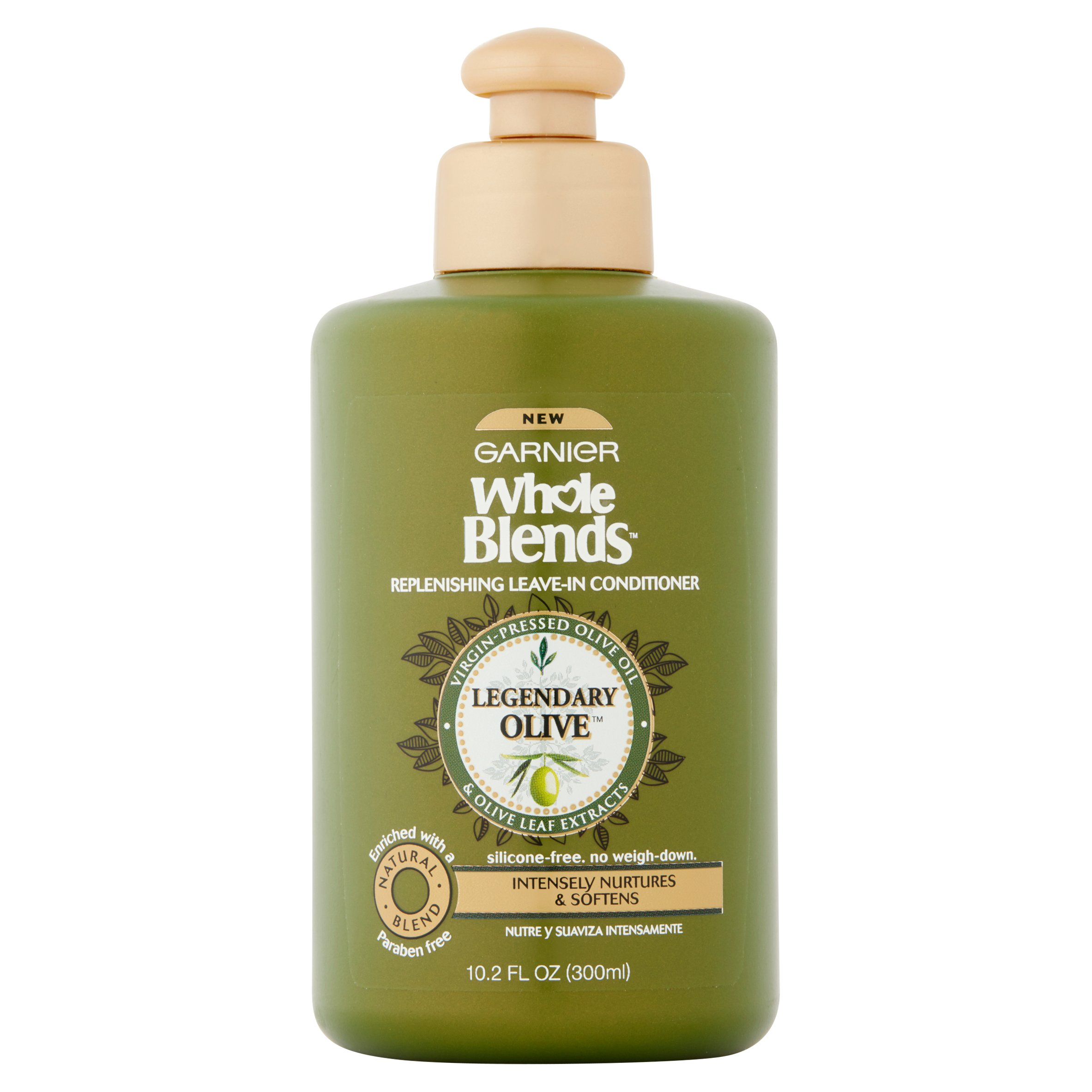Garnier Whole Blends Replenishing Leave-in Conditioner with Virgin-Pressed Olive Oil & Olive Leaf Extracts 10.2 FL OZ
