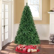 Holiday Time Unlit 6.5' Jackson Spruce Green Artificial Christmas ...