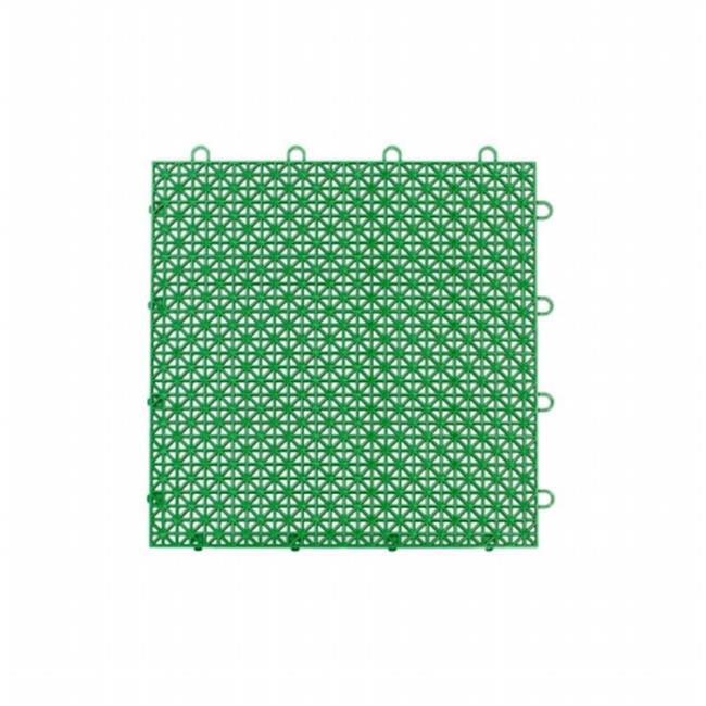 12 x 12 in. Armadillo Extreme Green Polypropylene Interlocking Multi Purpose Floor Tile, Pack of 9