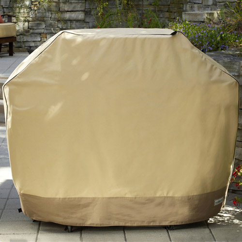 "Sure Fit 70"" XL Two-Tone Grill Cover, Taupe/Olive"