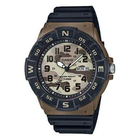 Casio Men's Dive-Style Watch, Black/Brown ()