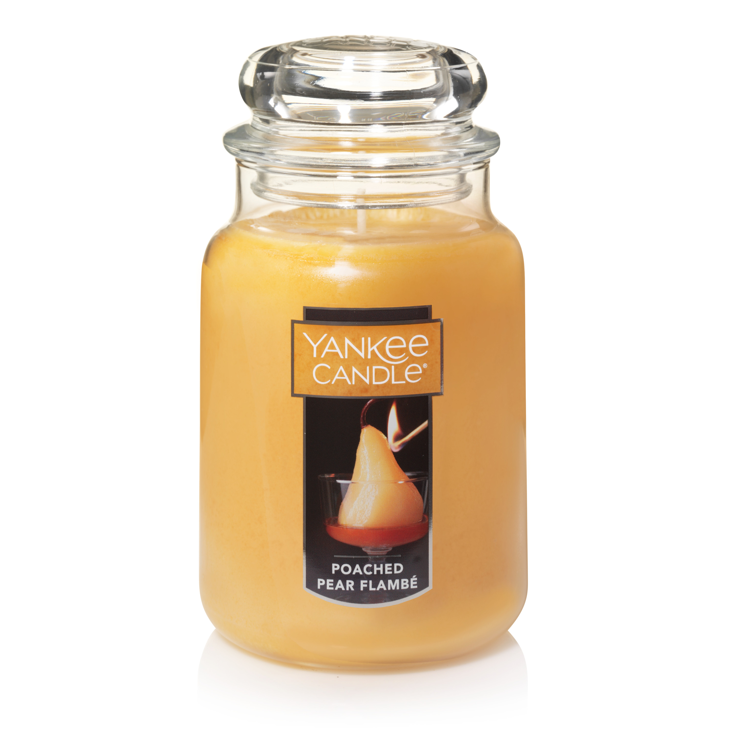 Yankee Candle Large Jar Scented Candle, Poached Pear Flambé
