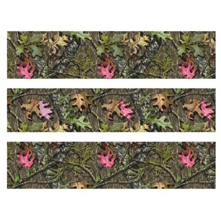 Mossy Oak with pink leaves Camo edible cake strips cake topper decorations birthday