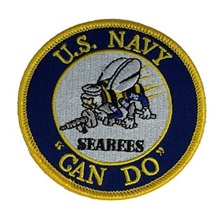 U.S. NAVY SEABEES CAN DO Patch - Color - Veteran Owned Business.
