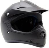 Typhoon Youth Matte Black Motocross Helmet Size Small