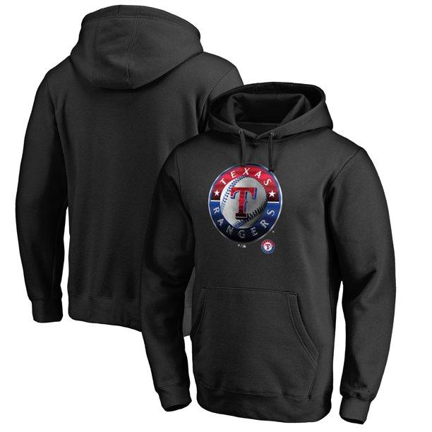 Texas Rangers Fanatics Branded Big Tall Midnight Mascot Pullover Hoodie Black Walmart Com Walmart Com