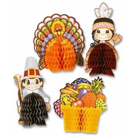 Thanksgiving Mini Centerpieces, Set of 4](Thanksgiving Party Supplies)