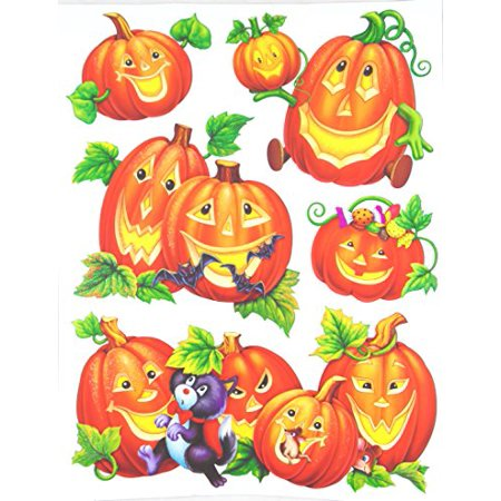 Nantucket Home Halloween Themed Vinyl Window Clings (Pumpkins)](Halloween Vinyl Clings)