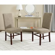 "Safavieh  Dining Parsons Olive Beige Linen/ Birchwood Dining Chairs (Set of 2) - 18.5""x23.8""x39.4"""