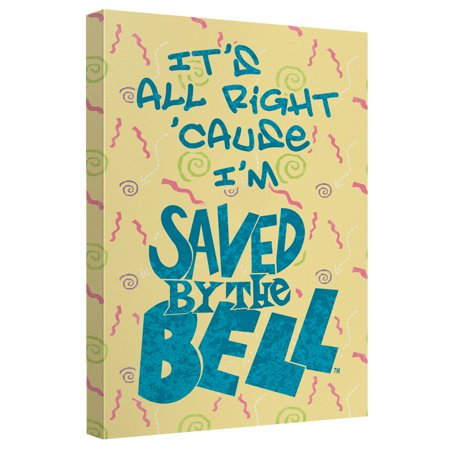 Saved By The Bell All Right Canvas Wall Art With Back Board (Saved By The Bell Hawaiian Style Trailer)