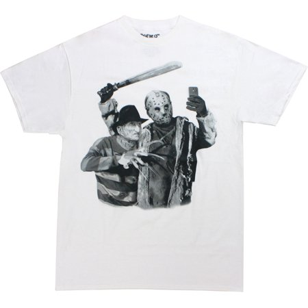 Freddy Krueger Jason Voorhees Selfie Men's White Shirt - Is Freddy Krueger Real