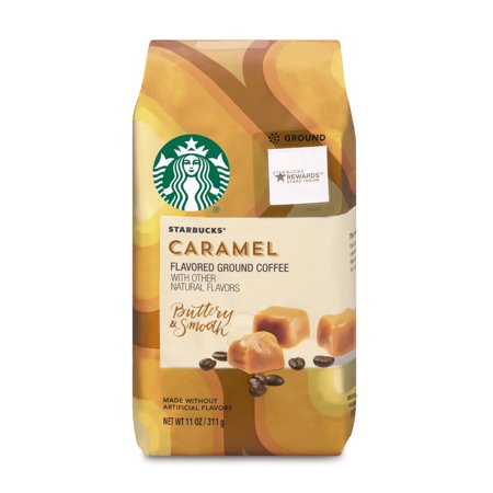Starbucks Caramel Flavored Ground Coffee, 11-Ounce Bag
