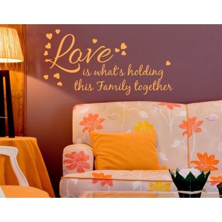 Love is What s Holding this Familly Together Wall Decal wall decal sti