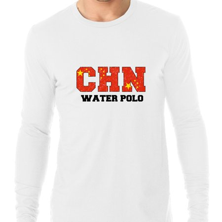 China Waterpolo - Olympic Games - Rio - Flag Men's Long Sleeve T-Shirt