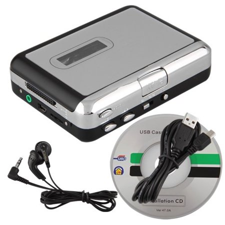 Sodial Mini Usb Audio Cassette Tape Converter To Mp3 Cd Player Pc