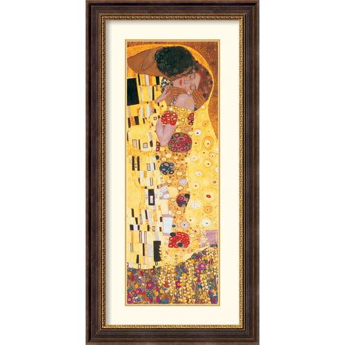 Amanti Art 'The Kiss (Der Kuss) Detail' by Gustav Klimt Framed Painting Print