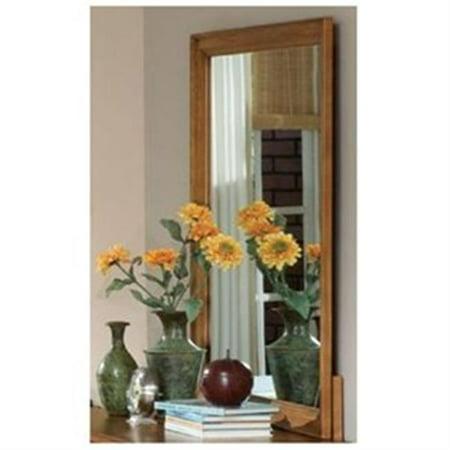 Caroline Mirror (Carolina Furniture Works 386300 Mirror - Landscape 24 x 30 - Autumn Oak)