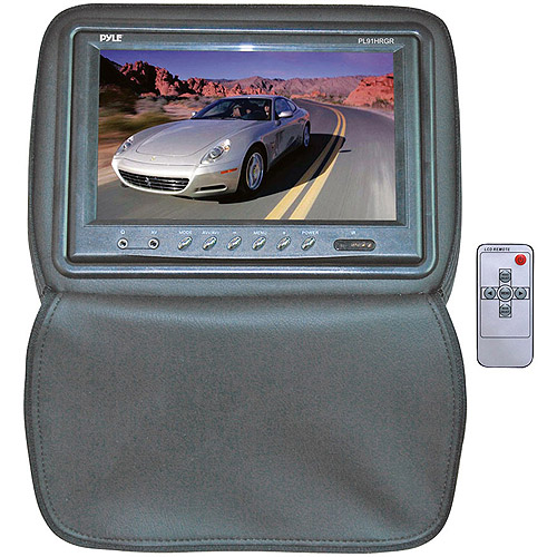 "Pyle Adjustable Headrest with Built-In 9"" Monitor, Gray"