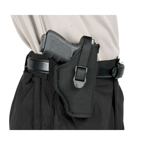 """BlackHawk Hip Holster, Size 7 fits Large Automatic Pistol with 3.75-4.5"""" Barrel, Right Hand, Black"""