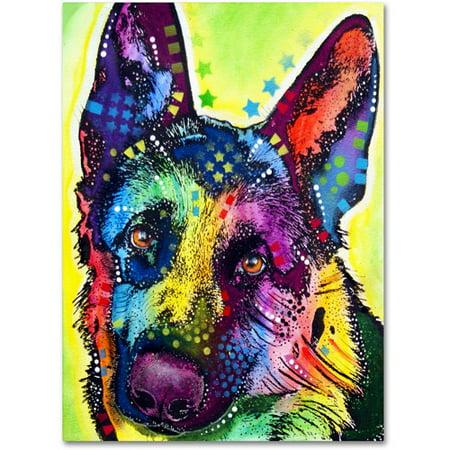 """Trademark Fine Art """"German Shepherd"""" Canvas Art by Dean Russo"""