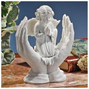Design Toscano Prayers of an Angel Bonded Marble Statue