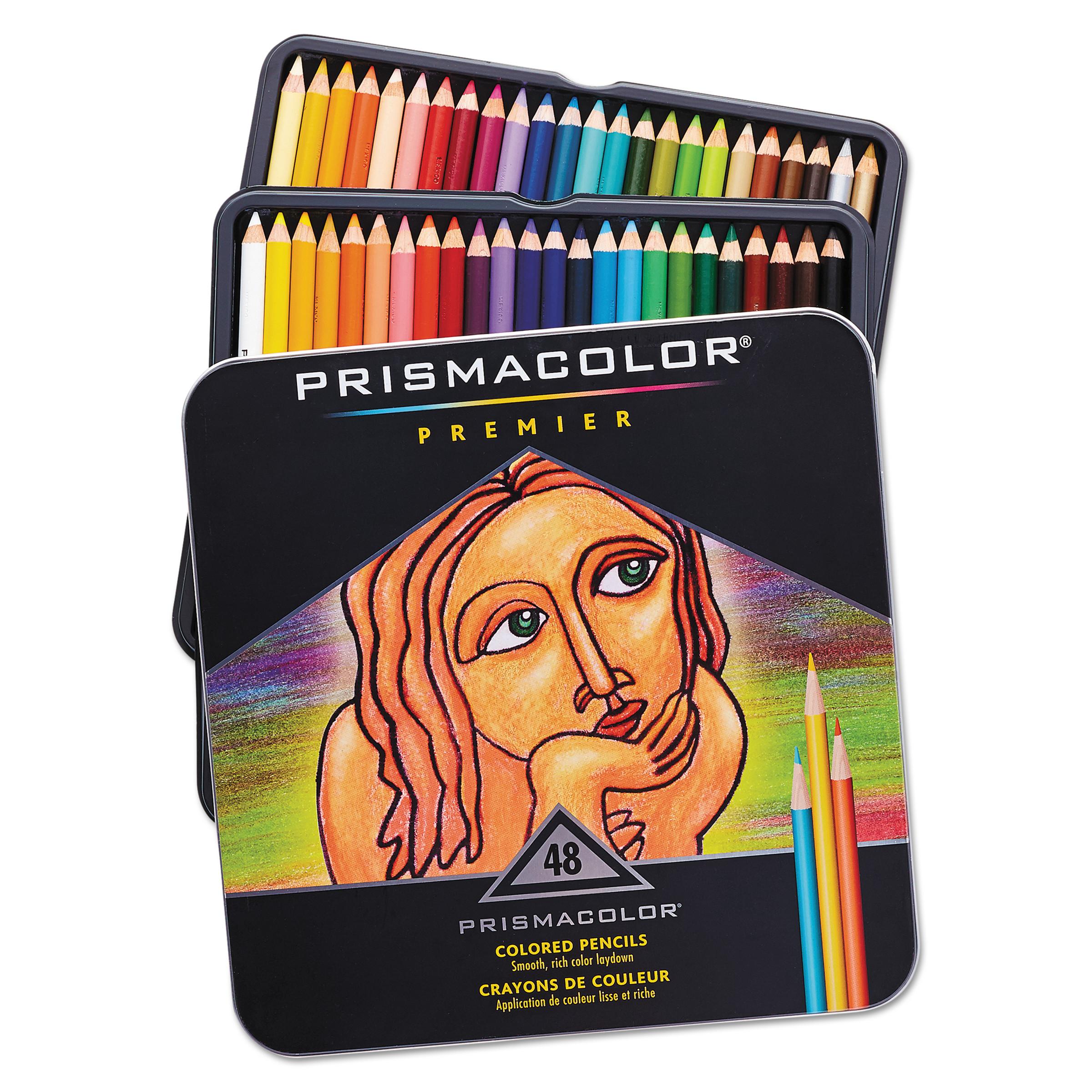 Prismacolor Premier Colored Woodcase Pencils, 48 Colors