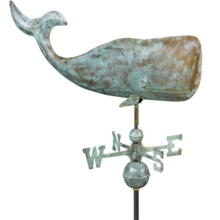 Good Directions Whale Weathervane, Blue Verde Copper -