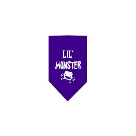 Lil Monster Screen Print Bandana Purple Small