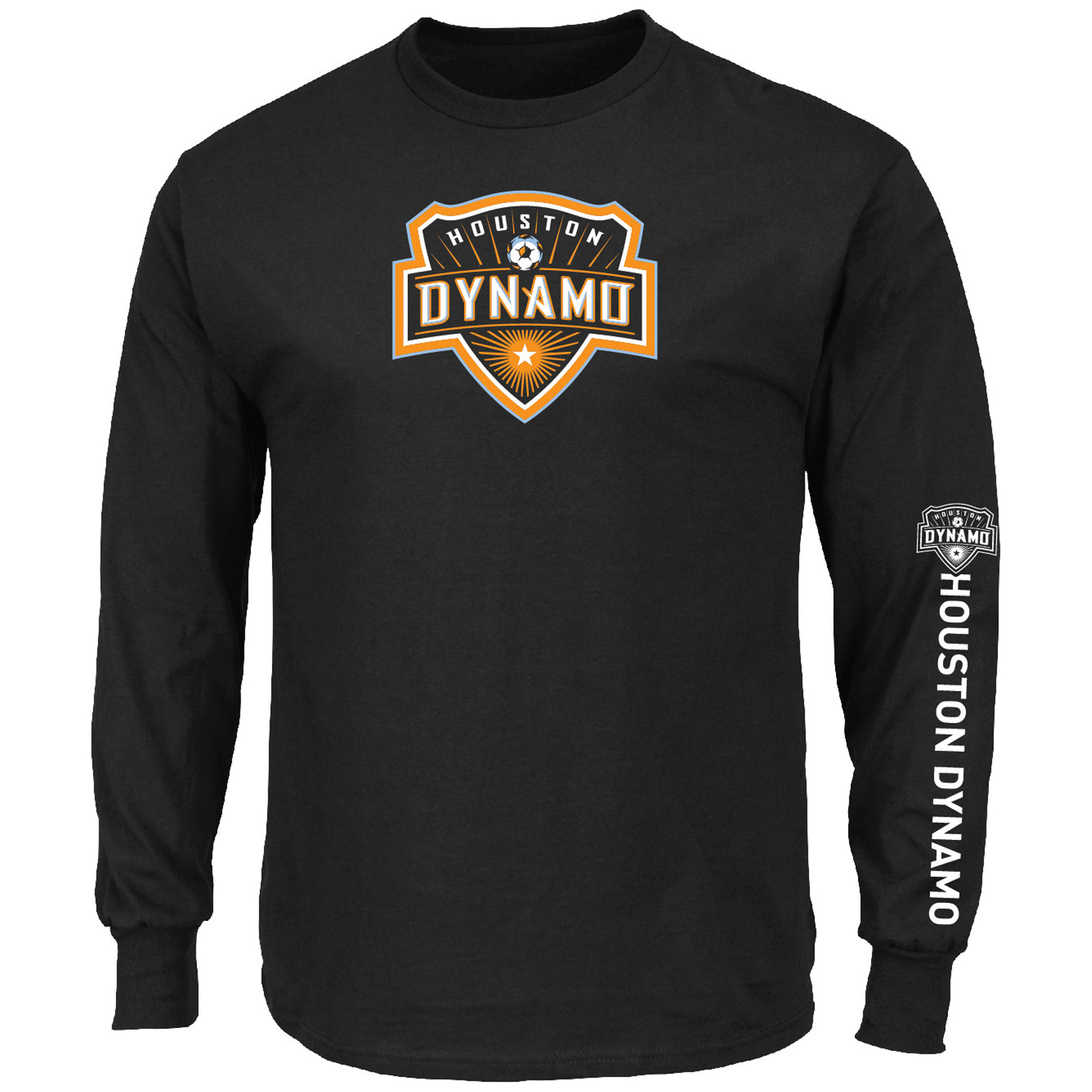 Houston Dynamo Majestic Global Sensation Big & Tall Long Sleeve T-Shirt - Black