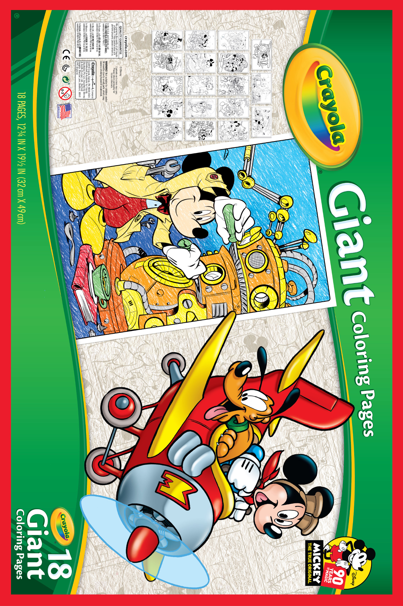 Crayola Giant Coloring Pages, Mickey's 90th Birthday