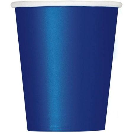 Blue 9 Oz Paper Cups - Paper Cups, 9 oz, Navy Blue, 14ct