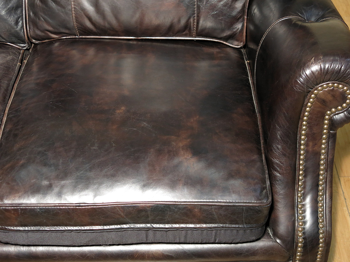Hooker Seven Seas Genuine Black/Brown Leather 3 Seat Sofa Couch -  Walmart