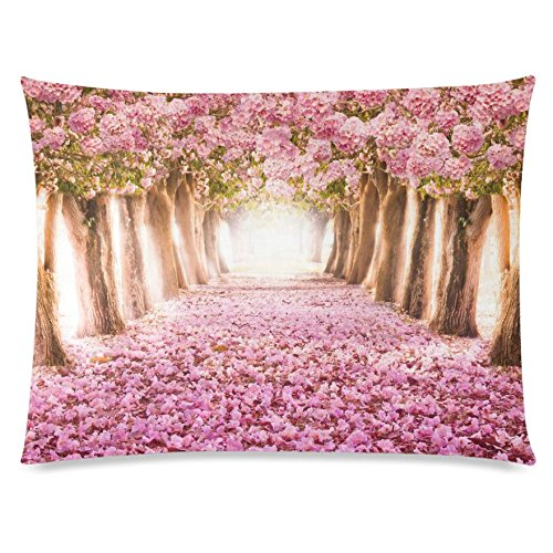 ZKGK Romantic Love Pink Flower Tree Floral Print Home Decor, Valentine's Day Wedding... by ZKGK