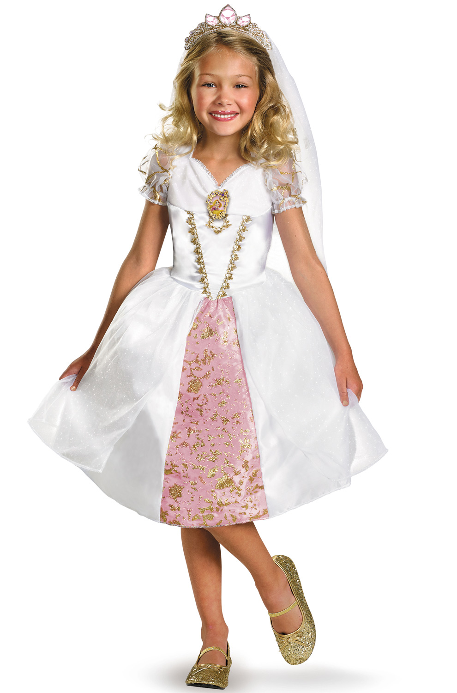 Disney Princess Rapunzel Wedding Gown Child Halloween Costume Walmart Com Walmart Com