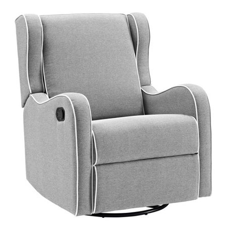 Details About Glider Baby Rocker Rocking Chair Swivel Recliner Nursery Furniture Gray Seat New