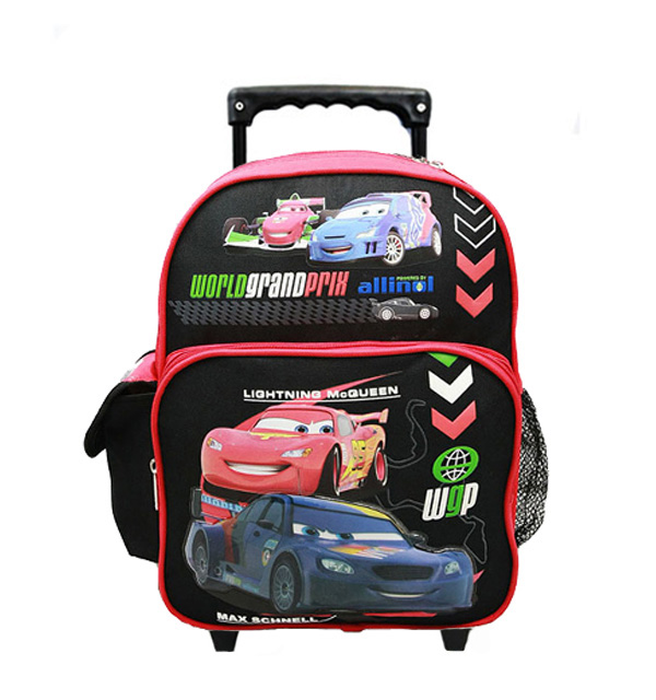 Small Rolling Backpack Disney Cars 2 World Grand Prix Red Black New 50705 by Ruz