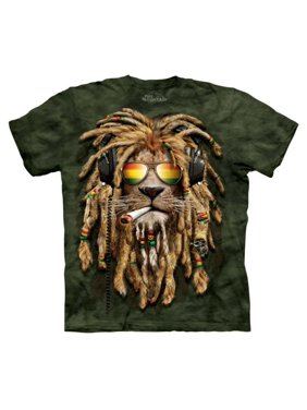 2b2138d3 Product Image Green 100% Cotton Smokin' Jahman Realistic Graphic T-Shirt