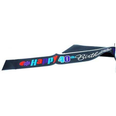 Birthday Cheer Satin 40th Birthday Sash - 21st Birthday Sash