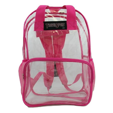 - USA Transparent See Through Clear Vinyl PVC 17 Large School Backpack