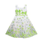 1b15932516029 Sunny Fashion - Girls Dress Butterfly Green Double Bow Tie Summer ...