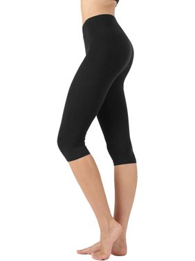 00d8a5b396687 Product Image Womens High Waist Seamless Cotton Capri Leggings