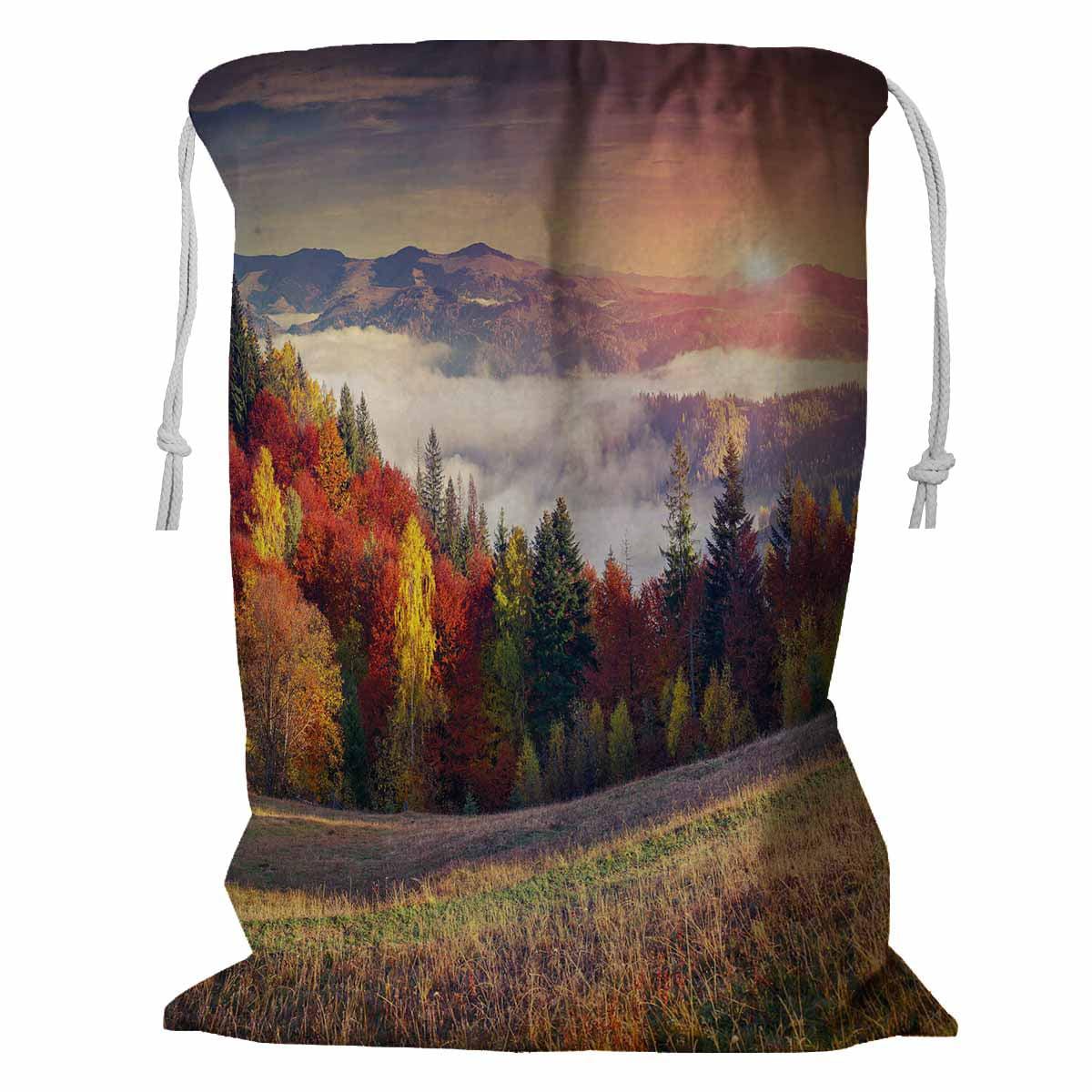 Drawstring Backpack Watching Sunrise On The Mountain Rucksack
