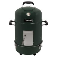 Dyna-Glo Compact Charcoal Bullet Smoker and Grill - High Gloss Forest Green