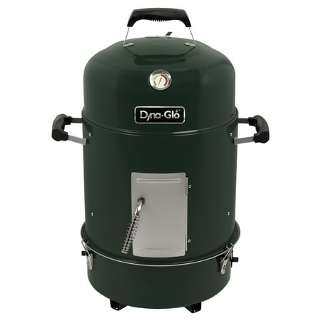 Dyna-Glo Compact Charcoal Bullet Smoker and Grill - High Gloss Forest Green ()
