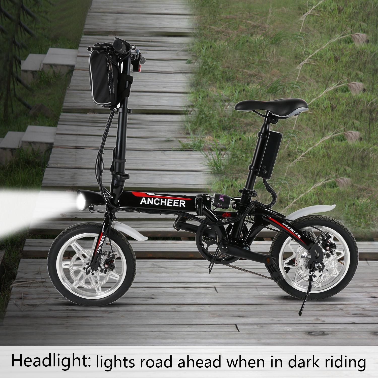14'' MIni Electric Bike Folding Bicycle  with Lithium-Ion...
