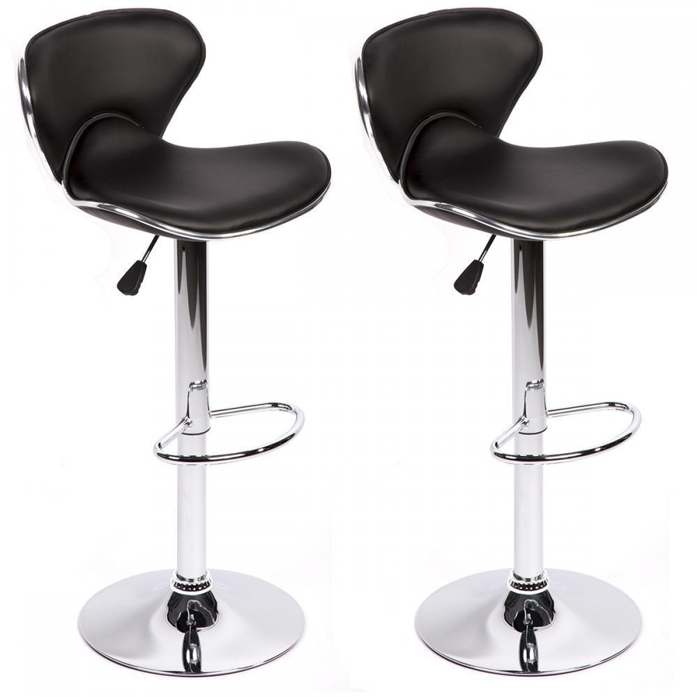 Set Of 2 Adjustable Height Swivel Bar Stools W/ Base Counter Height Stools