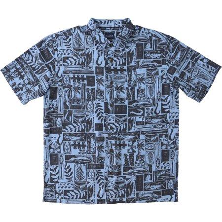 99c9f3d0 Jack O'Neill - Jack O'Neill NEW Blue Mens Size Large L Button Down Hawaiian  Shirt - Walmart.com