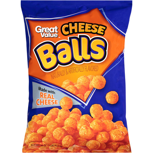 Great Value Cheese Balls, 16 oz