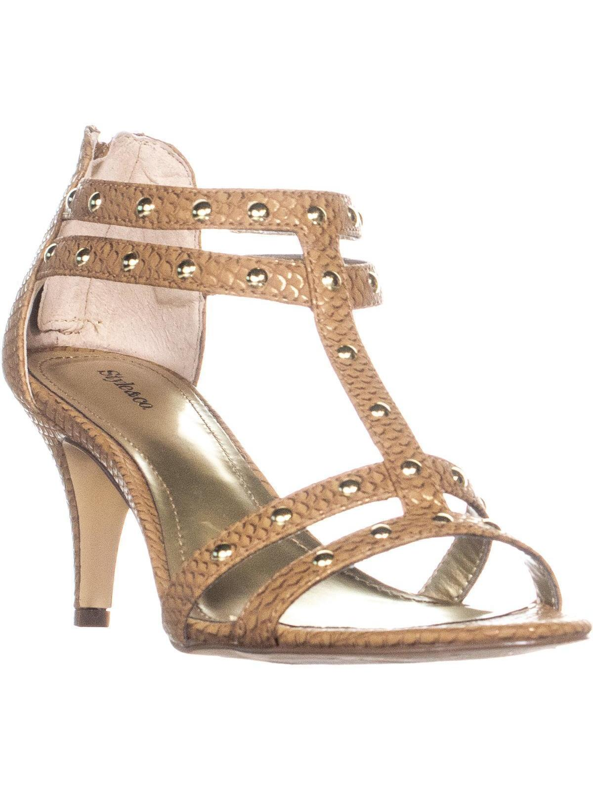 Womens Levine Strappy Studded Zip Up Sandals, CajunSpice